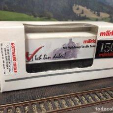 Trains Échelle: MÄRKLIN H0, VAGÓN CONMEMORATIVO DE 150 AÑOS MÄRKLIN. Lote 202417440