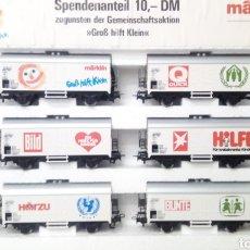 Trenes Escala: LOTE DE 6 VAGONES MARKLIN NUEVOS. MARKLIN H0 4400. Lote 203299510