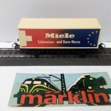 Trenes Escala: VAGON MARKLIN H0 CONTENEDOR MIELE. Lote 203927111
