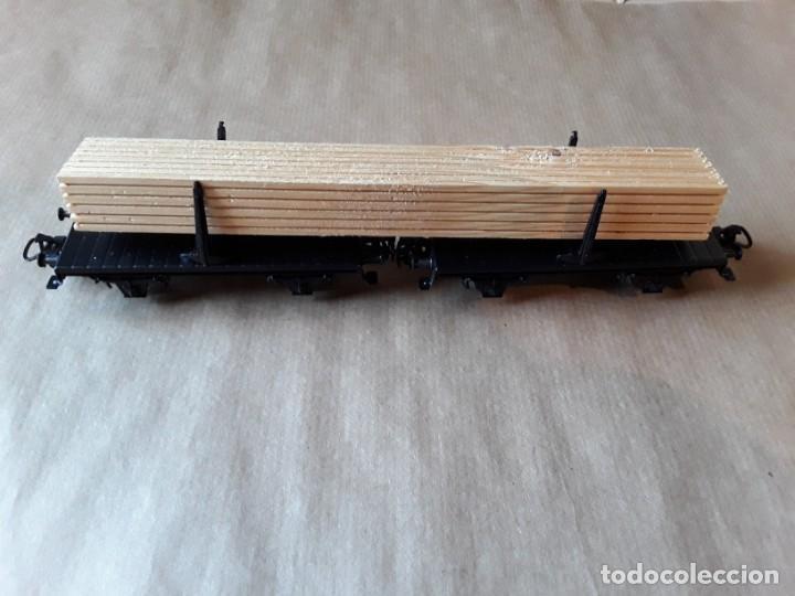 MARKLIN HO VAGON DOBLE MERCANCIAS MADERA (Juguetes - Trenes a Escala - Marklin H0)