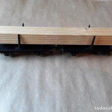 Trenes Escala: MARKLIN HO VAGON DOBLE MERCANCIAS MADERA. Lote 205159590