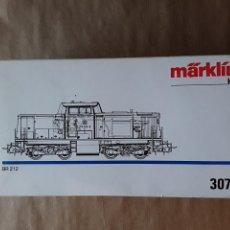 Trenes Escala: MARKLIN HO LOCOMOTORA 3072 DB 212. Lote 205289428