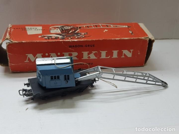 VAGON GRÚA MARKLIN REF.4611 EN CAJA ORIGINAL (Juguetes - Trenes a Escala - Marklin H0)