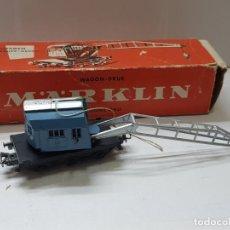 Trenes Escala: VAGON GRÚA MARKLIN REF.4611 EN CAJA ORIGINAL. Lote 208902576