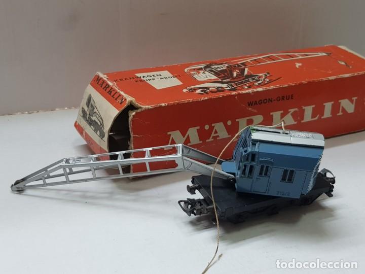 Trenes Escala: Vagon grúa Marklin ref.4611 en caja original - Foto 2 - 208902576