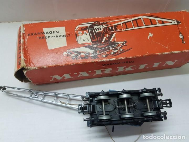 Trenes Escala: Vagon grúa Marklin ref.4611 en caja original - Foto 4 - 208902576