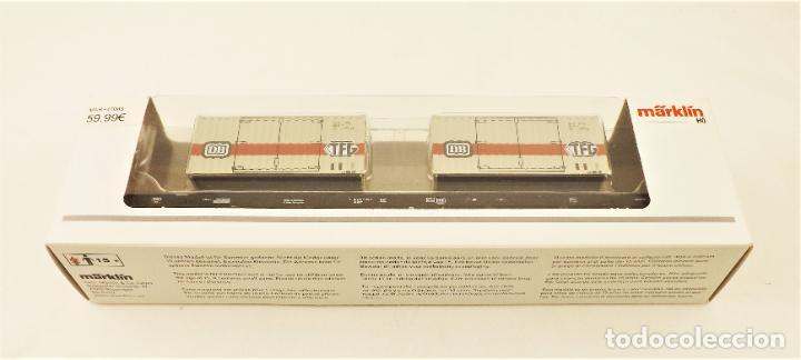 MARKLIN 47048 PLATAFORMA CON CONTENEDORES TFG DE LA DB (Juguetes - Trenes a Escala - Marklin H0)