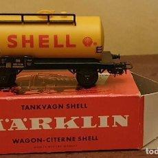 Trenes Escala: MARKLIN - VAGÓN CISTERNA SHELL - 4502 - ESCALA HO.. Lote 209297512