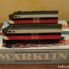 Trenes Escala: MARKLIN: LOCOMOTORA 4062 + VAGÓN DUMMY COLA 3062 - CON CAJAS.. Lote 210523461