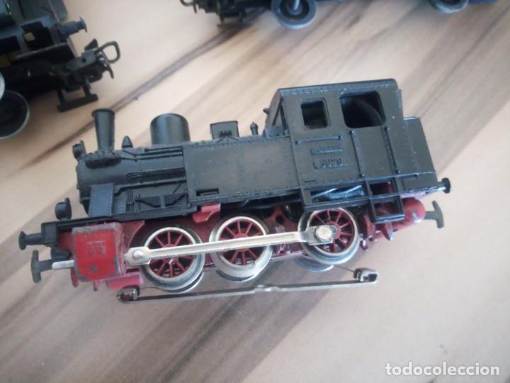 Trenes Escala: Tren marklin 3029,locomotora y 7 vagones hojalata maquina de metal 1960,w germany - Foto 11 - 210538563
