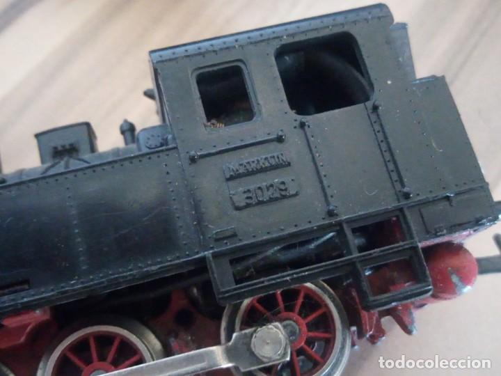 Trenes Escala: Tren marklin 3029,locomotora y 7 vagones hojalata maquina de metal 1960,w germany - Foto 12 - 210538563