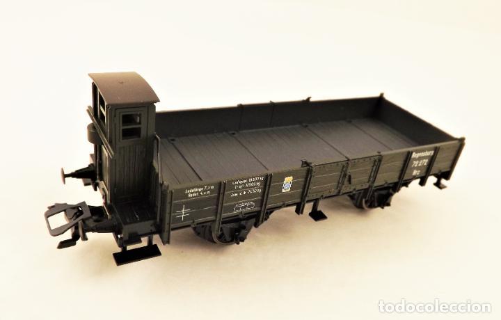 Trenes Escala: Marklin 46157 Plataforma con teleros y garita guardafrenos - Foto 2 - 211684006