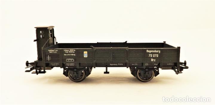 Trenes Escala: Marklin 46157 Plataforma con teleros y garita guardafrenos - Foto 3 - 211684006