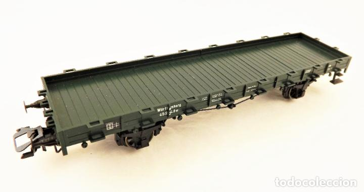 Trenes Escala: Marklin 46360 Vagon plataforma con teleros - Foto 2 - 211689123