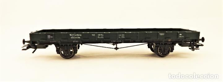 Trenes Escala: Marklin 46360 Vagon plataforma con teleros - Foto 3 - 211689123
