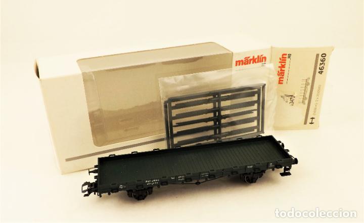 Trenes Escala: Marklin 46360 Vagon plataforma con teleros - Foto 6 - 211689123
