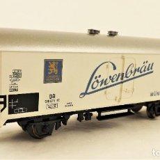 Trenes Escala: MARKLIN 45021 FURGÓN REFRIGERADO LÖWENBRÄU. Lote 211689521
