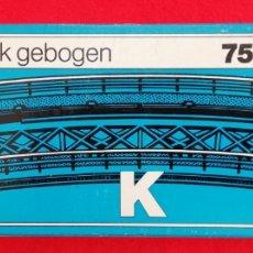 Trenes Escala: MÄRKLIN HO - 7569 - K - RAMPA CURVADA - NUEVO EN CAJA, SIN ESTRENAR - PJRB. Lote 236042000