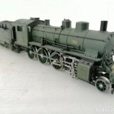 Trenes Escala: LOCOMOTORA DE VAPOR, CON VAGON DE CARBON, BAYERN 3894 - TRIX WESTERN GERMANY. Lote 212914847