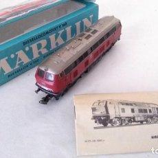 Trenes Escala: MARKLIN H0 LOCOMOTORA DIESEL CON LUZ, EN CAJA CON INSTRUCCIONES. REF. 3075 FUNCIONA. Lote 213743138