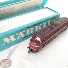 Trenes Escala: MARKLIN H0 LOCOMOTORA DIESEL CON LUZ EN CAJA . REF. 3067 FUNCIONA. Lote 213743606