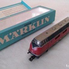Trenes Escala: MARKLIN H0 LOCOMOTORA DIESEL CON LUZ. REF. 3021 FUNCIONA. Lote 213894645