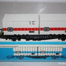 Trenes Escala: ANTIGUO VAGON CONTAINER DE MARKLIN. Lote 215131965