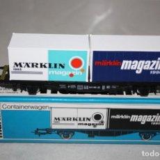 Trenes Escala: ANTIGUO VAGÓN CONTAINER DE MARKLIN MAGANZIN 1990. Lote 215132021