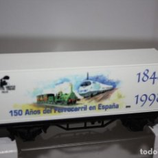 Trenes Escala: VAGÓN SINGULAR PARA CONMEMORAR LOS 150 AÑOS DEL FERROCARRIL ESPAÑOL.. Lote 215314941