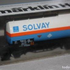 Trenes Escala: ANTIGUO VAGÓN CISTERNA SOLVAT.. Lote 215336192