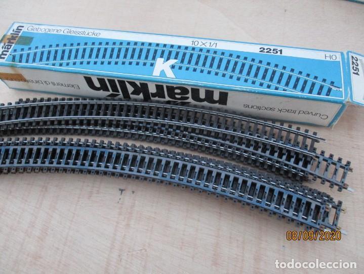 Trenes Escala: Marklin K lote de 8 vias R 618,5 ref 2251 la caja bastante sobada - Foto 2 - 217254967