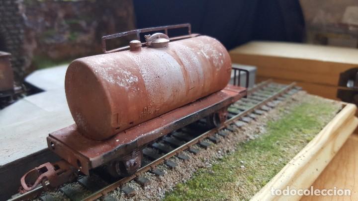 Trenes Escala: Cisterna marklin H0 HO envejecida y barnizada kesselwagen rusted faltan topes - Foto 3 - 219422010