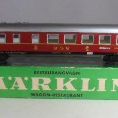 Trenes Escala: H0 - MARKLIN - VAGON RESTAURANTE - METALICO ** CON CAJA ORIGINAL. Lote 219520912