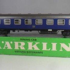 Trenes Escala: H0 - MARKLIN - VAGON RESTAURANTE - METALICO ** CON CAJA ORIGINAL. Lote 219521116
