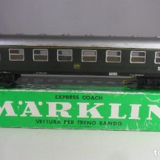 Trenes Escala: H0 - MARKLIN - VAGON DE PASAJEROS DE 1ª CLASE - METALICO ** CON CAJA ORIGINAL. Lote 219521276