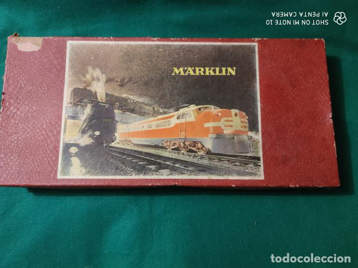 Trenes Escala: ANTIGUO ESCASISIMO TREN MARKLIN ESCALA HO MAQUINA VAGONES VIAS EN CAJA AÑOS 40 -50 - Foto 4 - 221417257