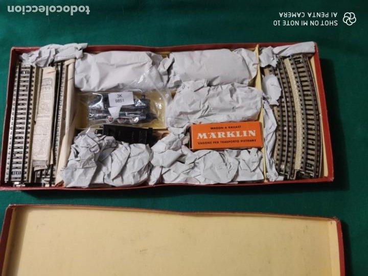 Trenes Escala: ANTIGUO ESCASISIMO TREN MARKLIN ESCALA HO MAQUINA VAGONES VIAS EN CAJA AÑOS 40 -50 - Foto 6 - 221417257