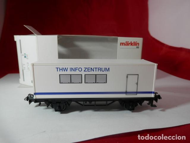 Trenes Escala: VAGÓN PORTACONTENEDOR ESCALA HO DE MARKLIN - Foto 2 - 222679563