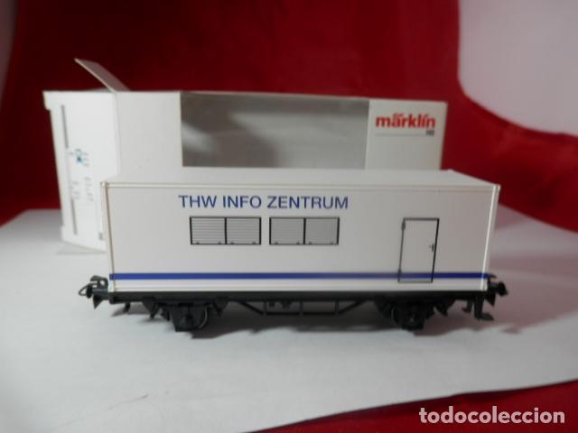 Trenes Escala: VAGÓN PORTACONTENEDOR ESCALA HO DE MARKLIN - Foto 4 - 222679563