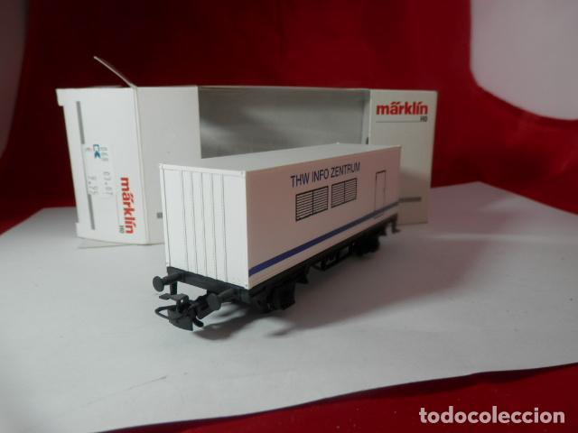 Trenes Escala: VAGÓN PORTACONTENEDOR ESCALA HO DE MARKLIN - Foto 10 - 222679563