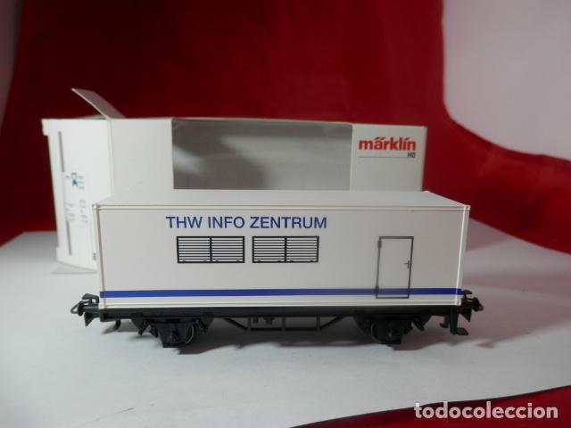 Trenes Escala: VAGÓN PORTACONTENEDOR ESCALA HO DE MARKLIN - Foto 11 - 222679563