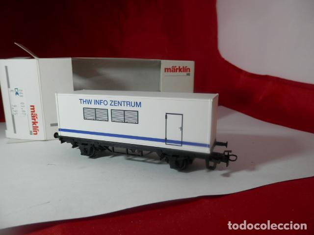 Trenes Escala: VAGÓN PORTACONTENEDOR ESCALA HO DE MARKLIN - Foto 13 - 222679563