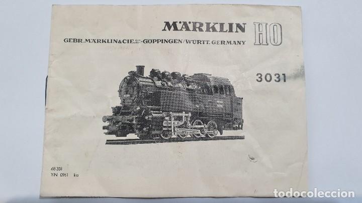 MARKLIN ORIGINAL. INSTRUCCIONES LOCOMOTORA 3031 (Juguetes - Trenes a Escala - Marklin H0)