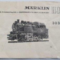 Trenes Escala: MARKLIN ORIGINAL. INSTRUCCIONES LOCOMOTORA 3031. Lote 224523880