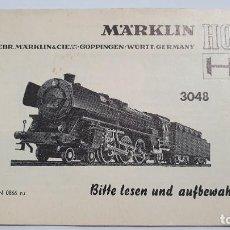 Trenes Escala: MARKLIN ORIGINAL. INSTRUCCIONES LOCOMOTORA 3048. Lote 224524455