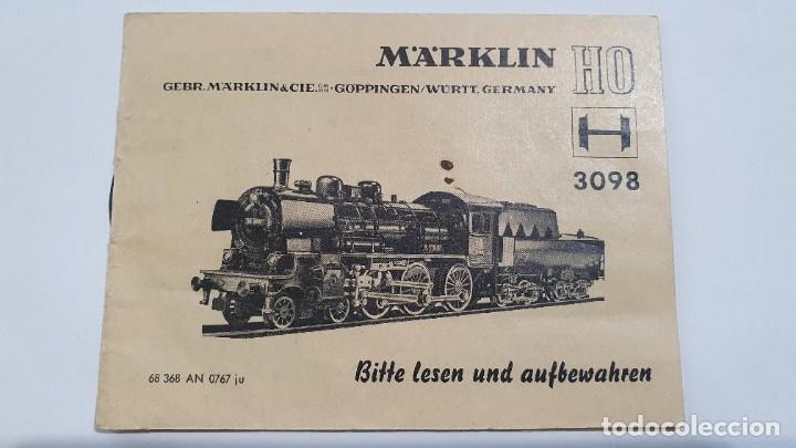 MARKLIN ORIGINAL. INSTRUCCIONES LOCOMOTORA 3098 (Juguetes - Trenes a Escala - Marklin H0)