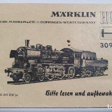 Trenes Escala: MARKLIN ORIGINAL. INSTRUCCIONES LOCOMOTORA 3098. Lote 224524950