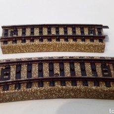 Trenes Escala: JIFFY VENDE 2 VIAS M CURVAS CORTAS MARKLIN 5101 H0. CON ÓXIDO. LOTE LG6314. Lote 224726432