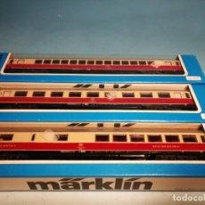 Trenes Escala: MÄRKLIN COMPOSICIÓN. VAGONES 4095 4096 4097. Lote 225839045