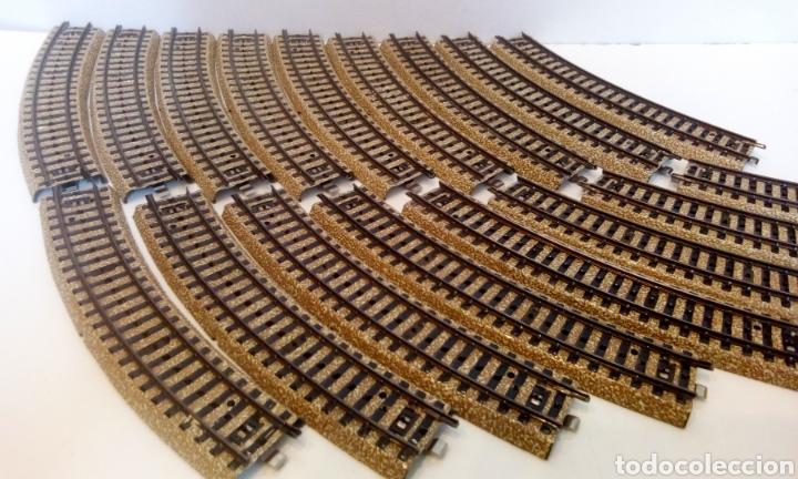 JIFFY VENDE 17 UNIDADES DE VIA M CURVA MARKLIN 5100 H0. LOTE EDE108 (Juguetes - Trenes a Escala - Marklin H0)